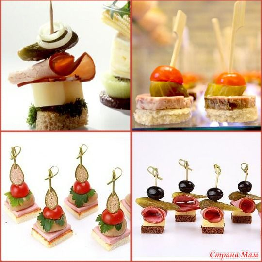 Christmas kanape.10 ideas for buffet! Beautiful and delicious!