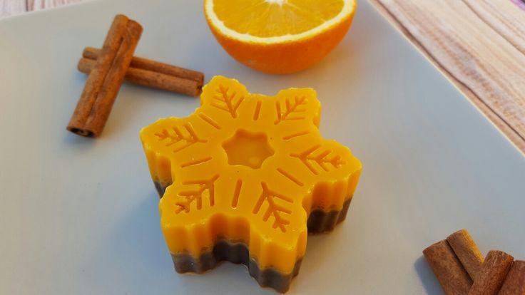 Orange cinnamon snowflake soap #Isabellsoap