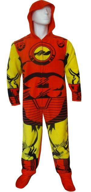 Hooded Marvel Comics Iron Man Onesie Pajama