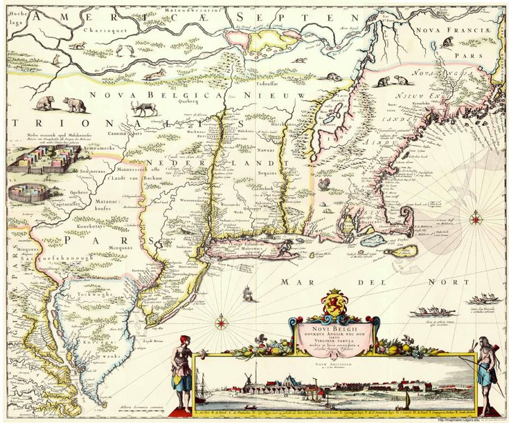 Visscher's 17th Century Map of New Belgium and New England and ...