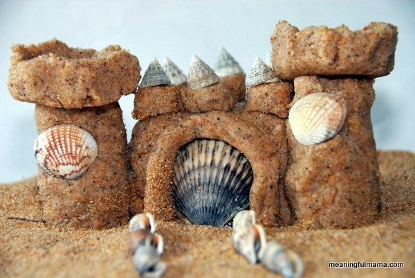 These sand castles are built to last. They will harden, and you can keep them as long as you want. They make great centerpieces for a beach party.