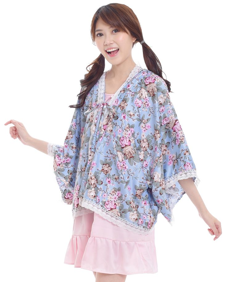 "$20. ""Then don't forget to relax and recenter yourself. Bring yourself in peace. Because life is beautiful.""     Floral Kimono Cardigan   Short length   Lace detail   Bow detail   Unlined  *The inner dress is a separate product. Ship worldwide! #kimono #cardigan #bohemian #asian #fashion #style #look #kawaii"