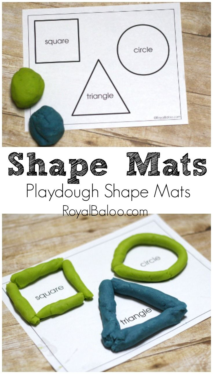 Free Printable Shapes Mats for playing with playdough