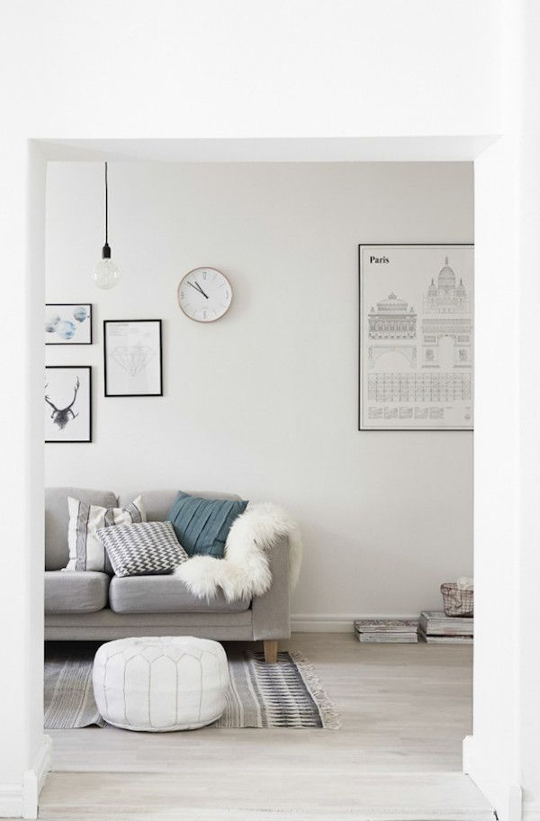 Grey / white and a cute kids room in a lovely Swedish space