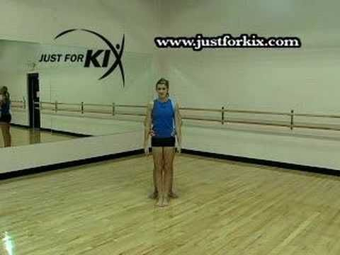Toe Touch Exercises Tutorial and Demonstration from Just For Kix - YouTube