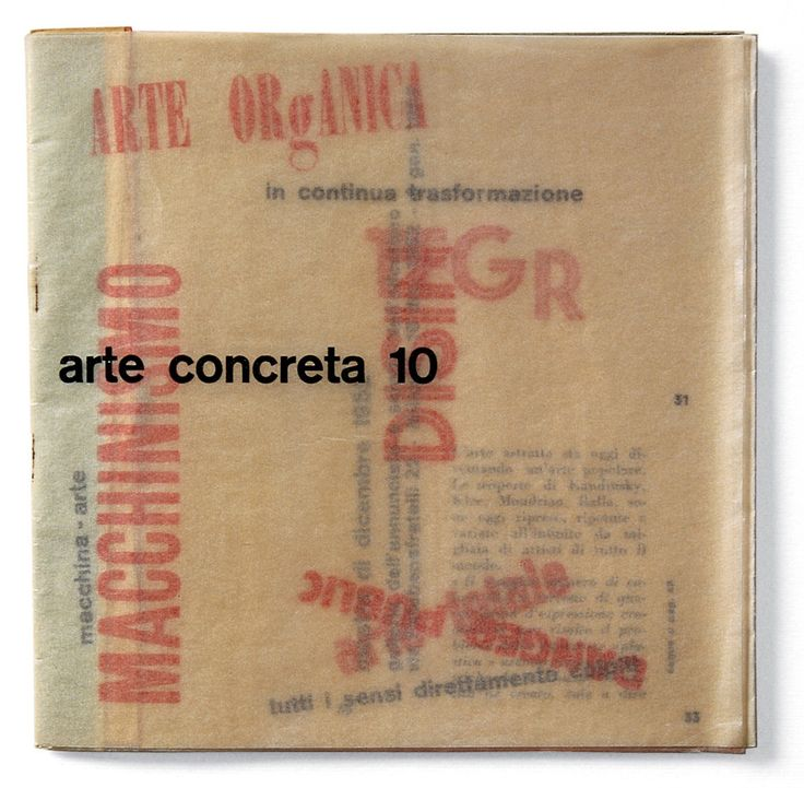 Bruno Munari Cover of Arte Concreta 10 Movimento Arte Concreta 1952