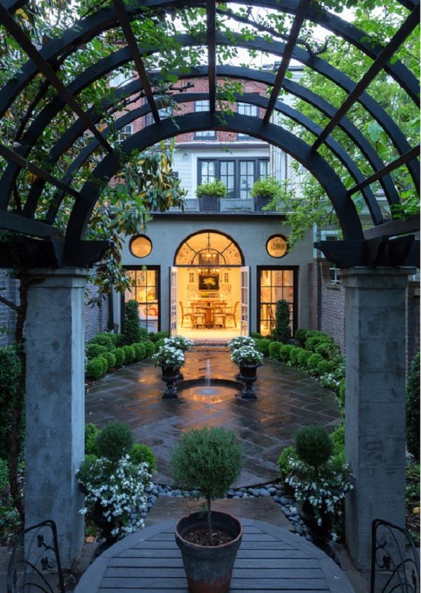 122 best images about courtyards landscapes on for Courtyard landscaping pinterest