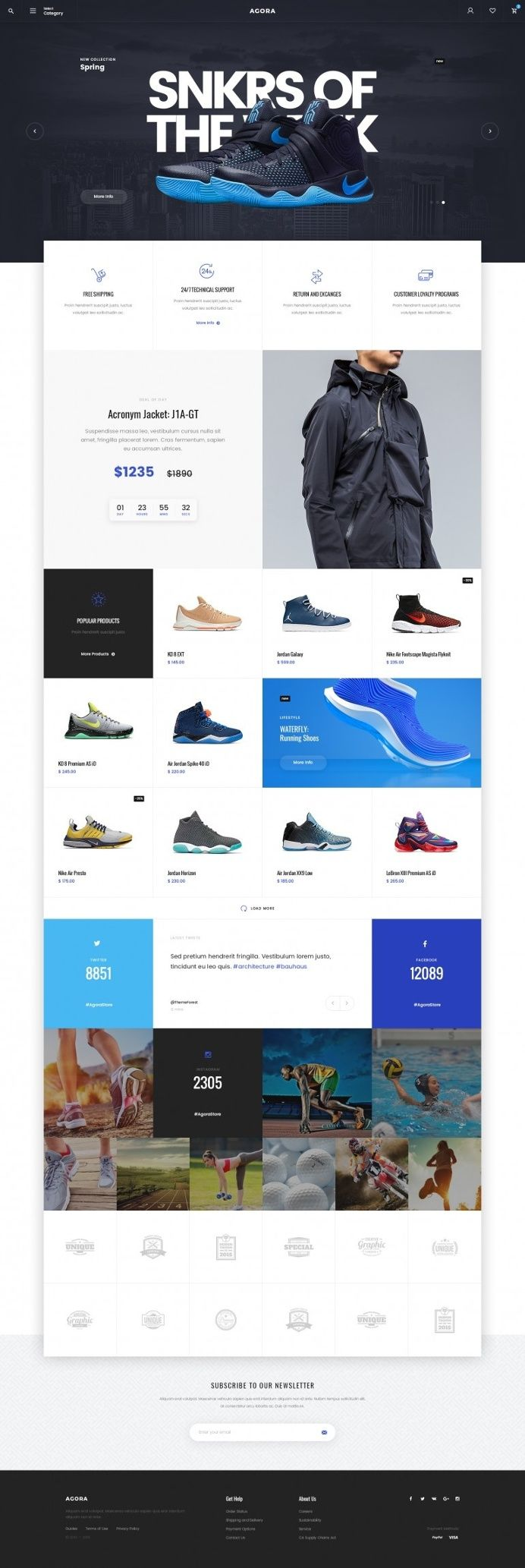 Designspiration — Design Inspiration simple and clean ecommerce web layout ui user interface shoes sneakers blue black white
