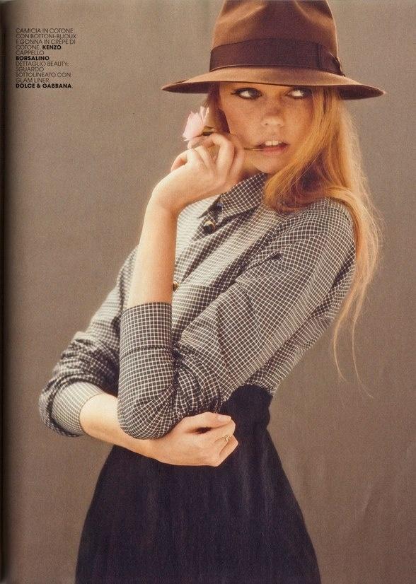 The New Yorker - Borsalino hat on @no way Claire Italia - November 2012