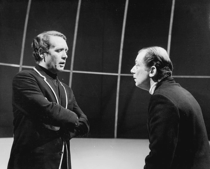 Two Patricks together - Patrick McGoohan as Number Six, and Patrick Cargill as Number Two.