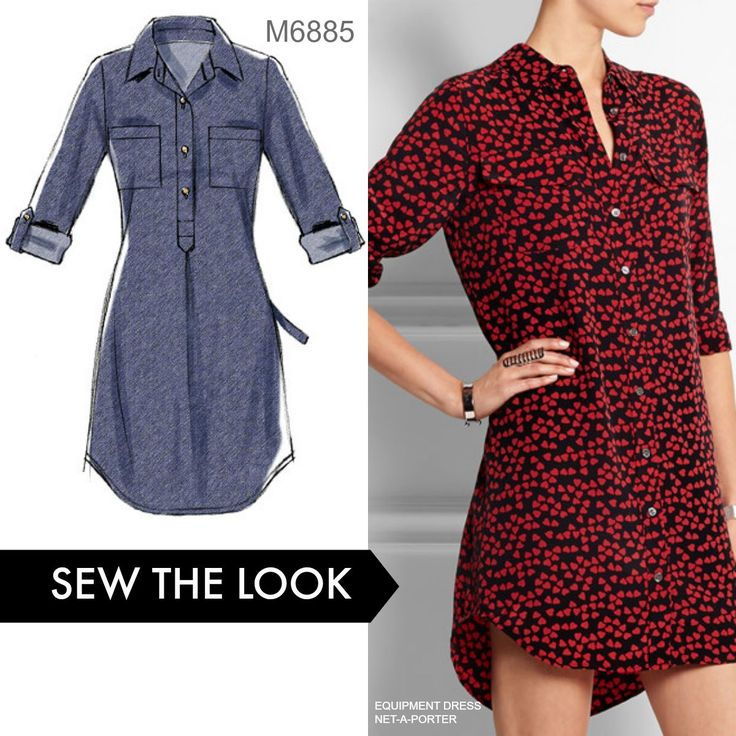Sew the Look: Whether you make this as a dress or a tunic, it's a great wardrobe…