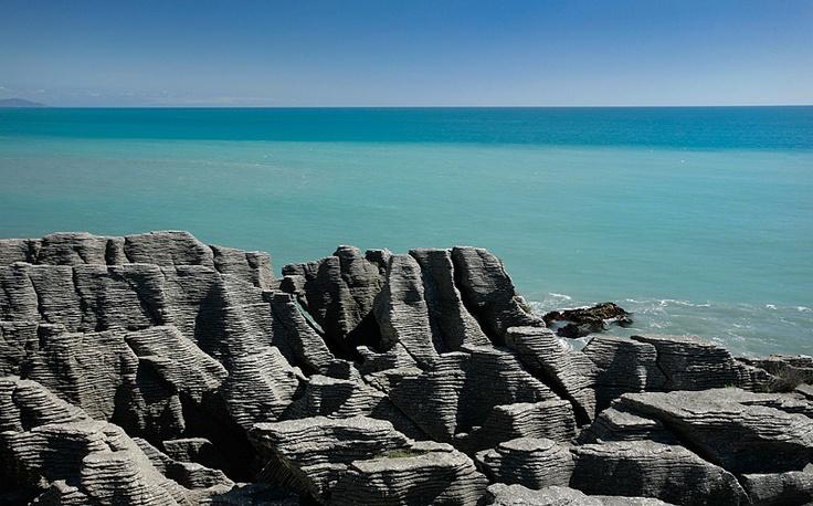Stills Photo Tours, David Still - New Zealand, Pancake Rocks against the sparkling Tasman Sea