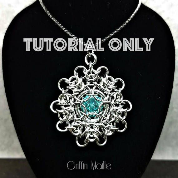 Tutorial Crystal Dahlia DIY How to Chain Maille