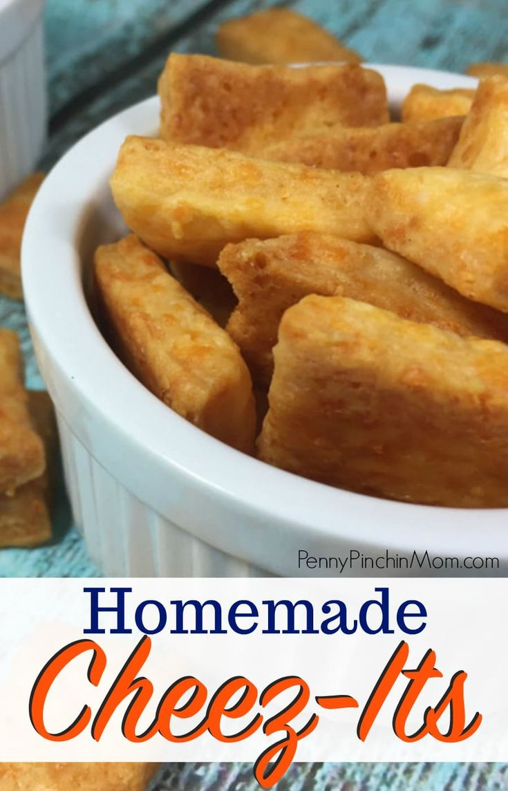 Did you know you can make Cheez-its at home! This is a simple after school snack that you can make for the kids (and yourself). We've been making this Cheez-it recipe for years and it is perfect every time! Snacks | Copycat recipes | easy homemade recipes | snacks for kids | cheese crackers | cheese snacks #snacks #crackers #cheese #kids #afterschool