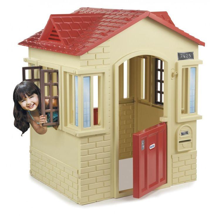 MiPetiteLife.es - Casita del cabo - Little Tikes. Esta casita tiene un estilo contemporáneo. Sus ventanas son modernas, arcos en las puertas y exterior con forma de ladrillo. Esta pequeña casa reúne una gran cantidad de diversión en un diseño pequeño y compacto.  www.MiPetiteLife.es