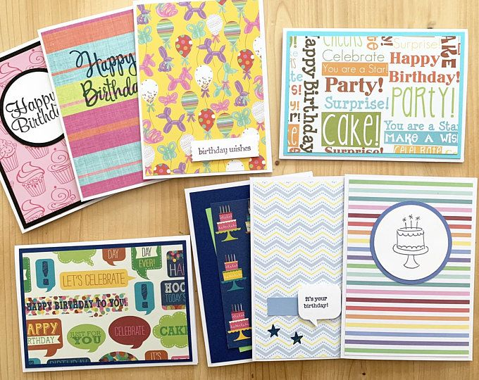 Amazon Com 120 Pack Happy Birthday Cards Bulk Set Includes 6 Designs Craft Happy Birthday Card Design Happy Birthday Cards Printable Happy Birthday Cards