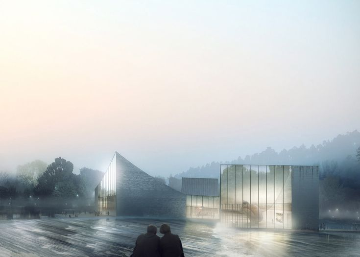 Schmidt hammer lassen has begun work on a granite clubhouse complex set in the centre