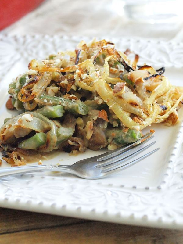 Traditional Green Bean Casserole just got a makeover! This healthier ...