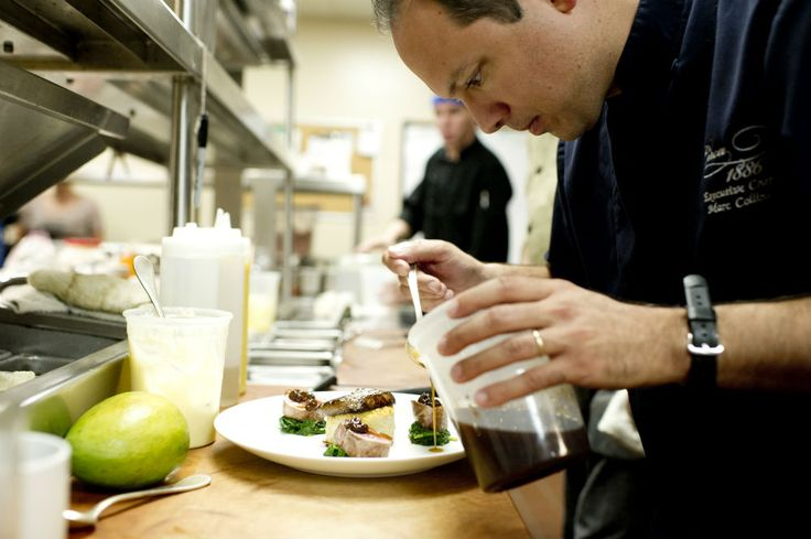 Chef Marc Collins in the kitchen | Charming Inns News & Blog
