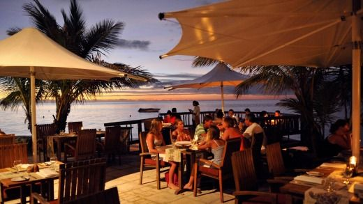 Dinner with a view at Castaway Island, Fiji.Photo: Supplied