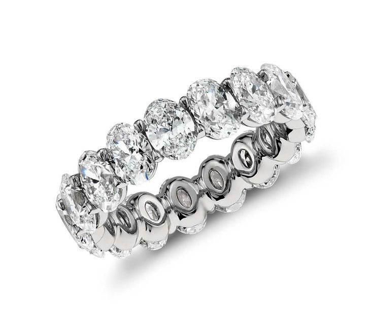 Beautiful Diamond Bands: Oval Diamond Eternity Ring In Platinum (5.00 Ct. Tw