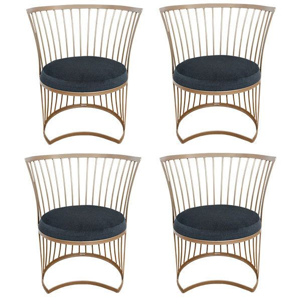 Set of Four Mid-Century Outdoor dining chairs | From a unique collection of antique and modern chairs at https://www.1stdibs.com/furniture/seating/chairs/