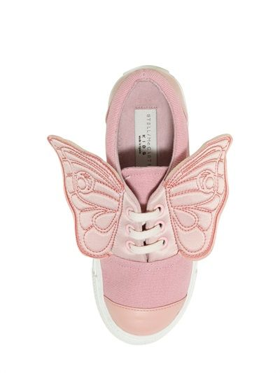 COTTON CANVAS SNEAKERS WITH SATIN WINGS