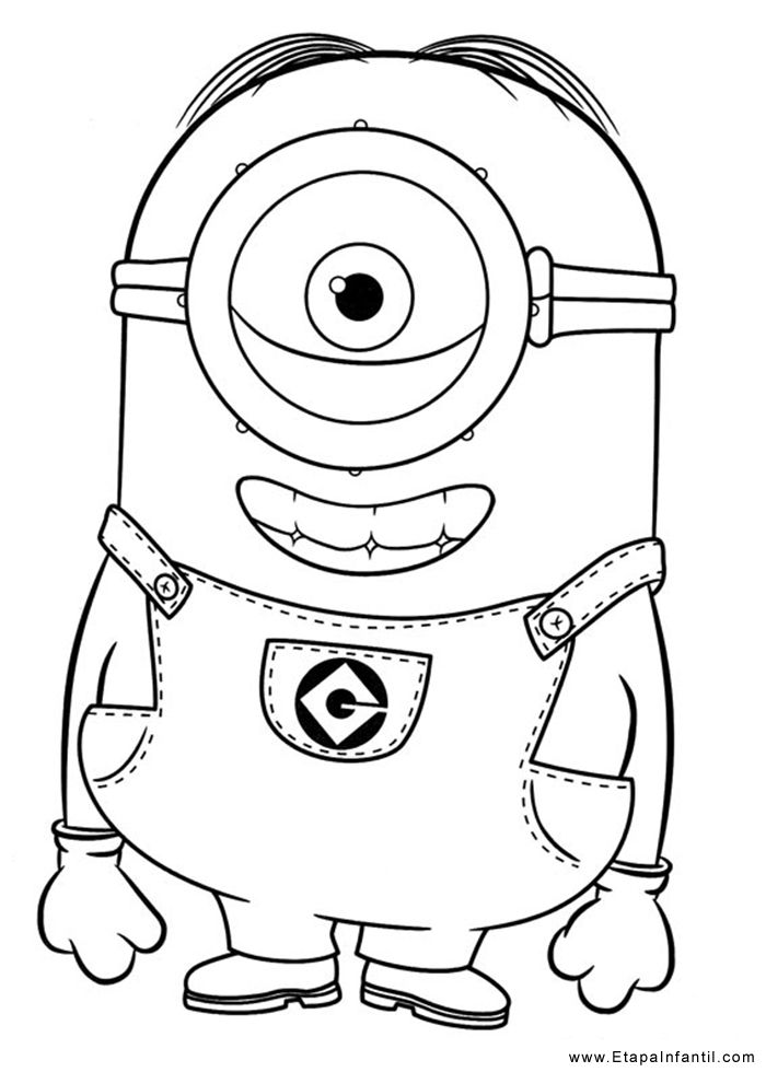 Ms de 25 ideas increbles sobre Dibujos para colorear minions en