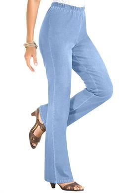 Tall Stretch Bootcut Leggings by Denim 24/7   Plus Size Bootcut Jeans   OneStopPlus
