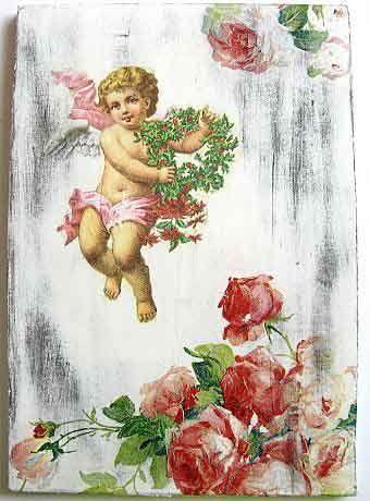 #Tablou #inger cu #coroana de #flori si #buchet de #trandafiri roz, tablou pe #lemn http://handmade.luxdesign28.ro/produs/tablou-inger-cu-coroana-de-flori-si-buchet-de-trandafiri-tablou-pe-lemn-22774/