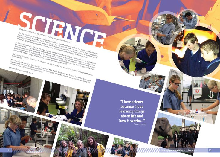 yearbook page science page layout pinterest