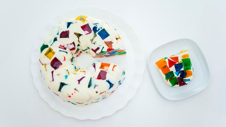 Stained Glass Jelly Cake