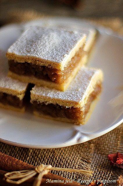 Sastojci   400 g. oštrog brašna tip-400  250 g. maslaca ili margarina  4 kašike šećera  2 kašike kisele pavlake  2 žumanca  pola praška za...