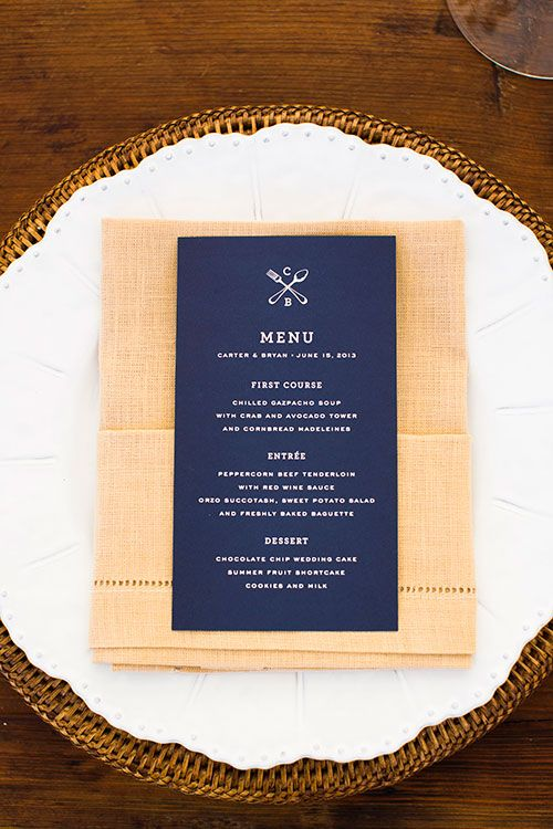 Creative Wedding Menu Ideas For Every Type Of