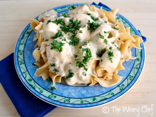 Slow Cooker Chicken Stroganoff - You will love this #easy #slowcooker ...