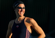 What a great story! Janet Evans, a five-time Olympic medalist, is returning to competitive swimming in the London Olympics at 40.