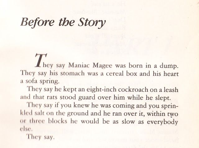 Wear the Cape: [Mentor Text Monday] Maniac Magee