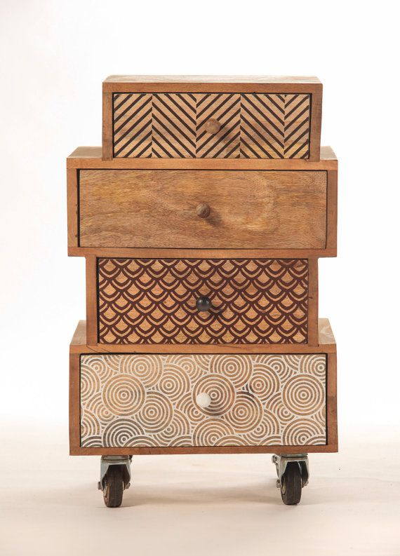 Extra Design on castors multi-drawer Cabinet by sweetmangofrance