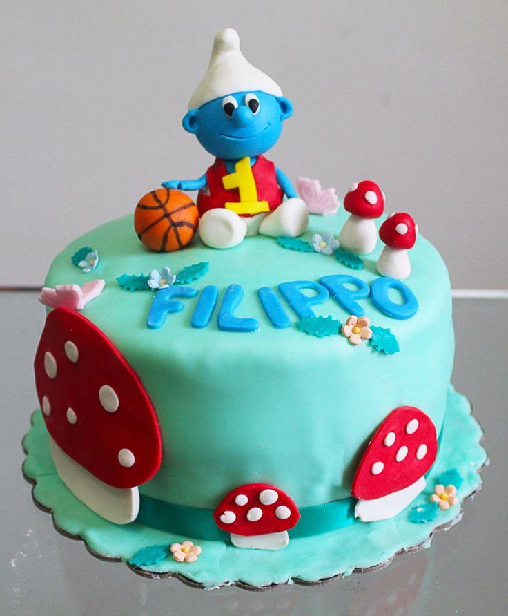 The smurfs cake torta puffo