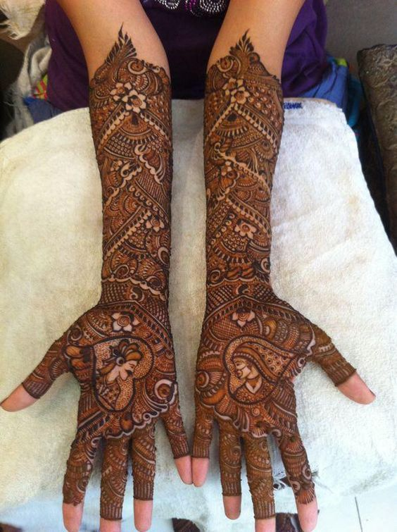 Download Dulha & dulhan mehndi designs for dulhan at: http://www.mehndi-designs.co/bridal-mehndi-designs/