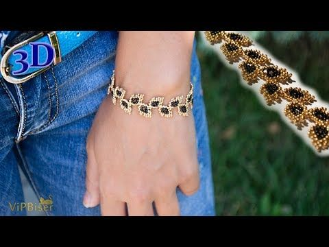 Beaded Leafy Bracelet DIY Easy Tutorial – YouTube – tashin gözüm