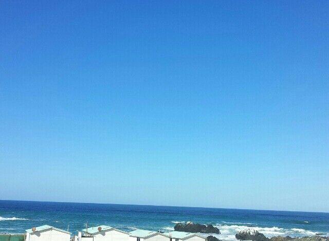 Cielo completamente despejado! Los colores de hoy dia son turqueza y azul violeta! ! Visit cabins en punta de choros chile !