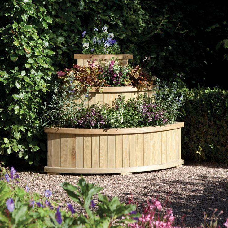 Wooden Raised Garden Beds Flower Plants Herbs Planter