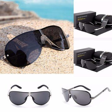 Unisex  UV400 Polarized Polit Rimless Sunglasses Driving Outdoor Sports Glasses Eyewears