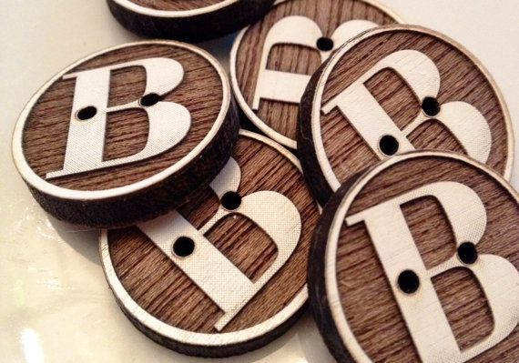 Custom button design letter buttonmonogram by Sweetpinehills, $6.00