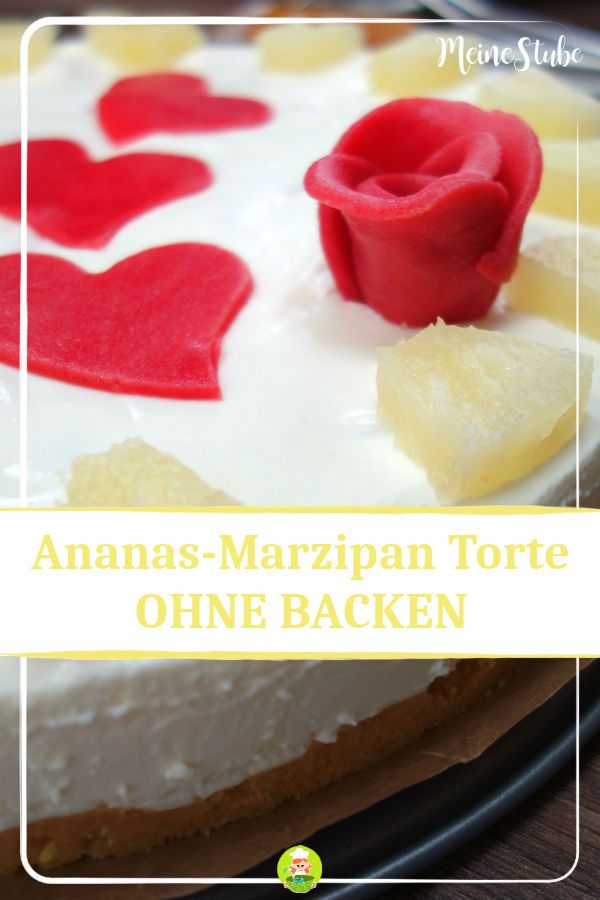 Ananas Marzipan Torte Ohne Backen Rezept Meinestube On The