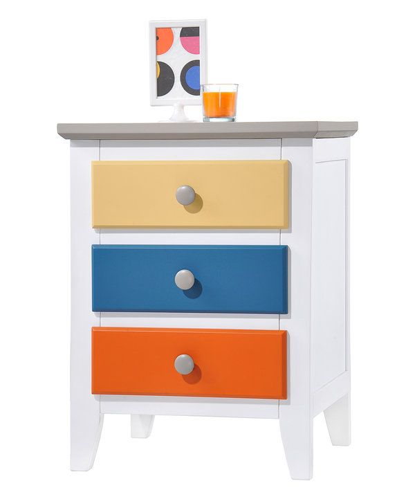 Look at this Orange & Blue Nightstand on #zulily today!