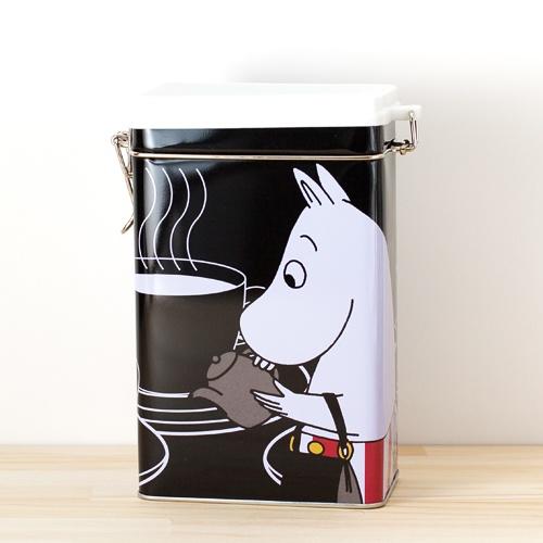 Moomin(Muumi)/ムーミン/ティン缶 コーヒー保存缶/ブラック