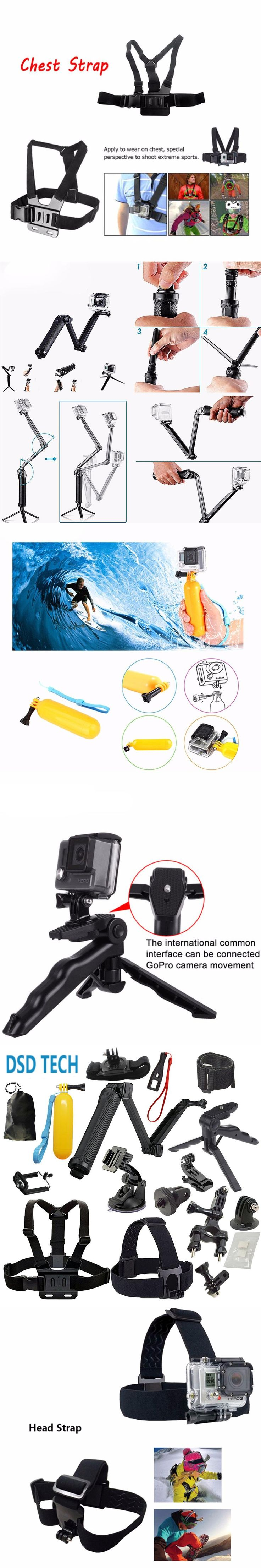 SAQN for gopro 4 Hand Grip and Tabletop Tripod GoPro Camera for go pro 5 4 3+ 3 sjcam sj5000 sj4000 xiaomiyi 2k eken h8 h9 08F