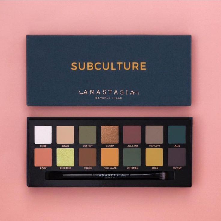 Anastasia Beverly Hills Subculture Palette Launch Details ABH Websites in the US & UK website 7-25 (Sephora, ULTA, Macy's, Dillard's) Online Launch 8-1 (Sephora, ULTA, Macy's, Dillard's) In Store Launch 8-15